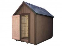 Outdoor Pellet Storage Barn