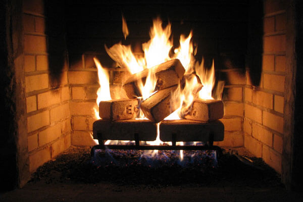 Compressed Wood Bricks ~ Wood brick fuel for your stove less hassle cleaner