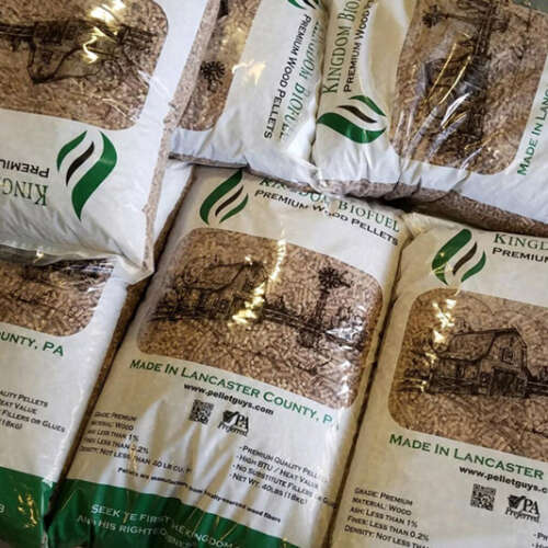 Hardwood Pellets in Bags